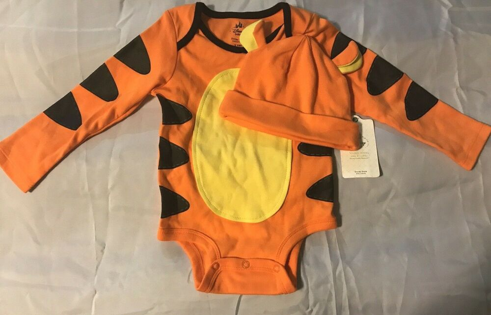 5a8b493dc Details about Disney Store Winnie the Pooh Tigger 2 Years Bodysuit & Hat Baby  Costume New