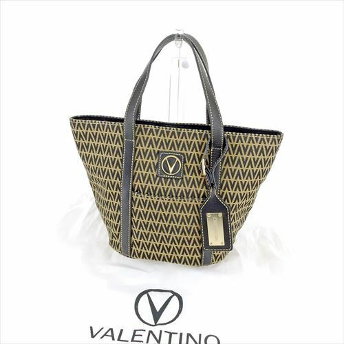 61c9aea774 Details about Mario Valentino Tote bag Black Beige Woman unisex Authentic  Used T6636