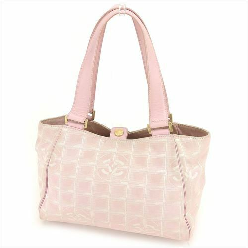 62b2fceb8533 Details about Chanel Tote bag New travel line Pink Woman Authentic Used  T6429