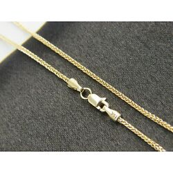 REAL 14k yellow gold foxtail chain  1.5mm with lobster clasp ALL LENGTH