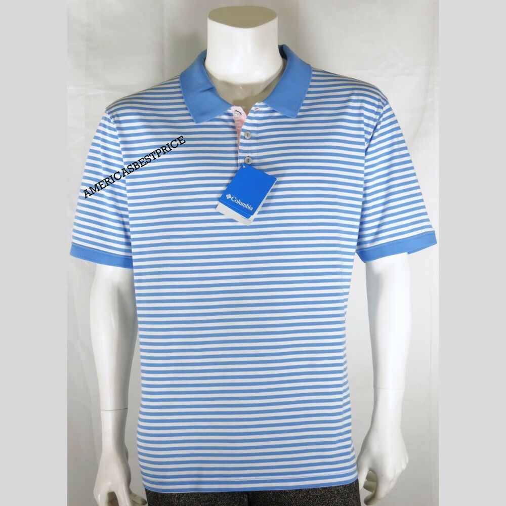 6216ca1a2ae Details about COLUMBIA NEW MENS SUPER HARBOR SIDE POLO SHIRT PFG REGULAR  NWT BLUE RETAIL $ 65.