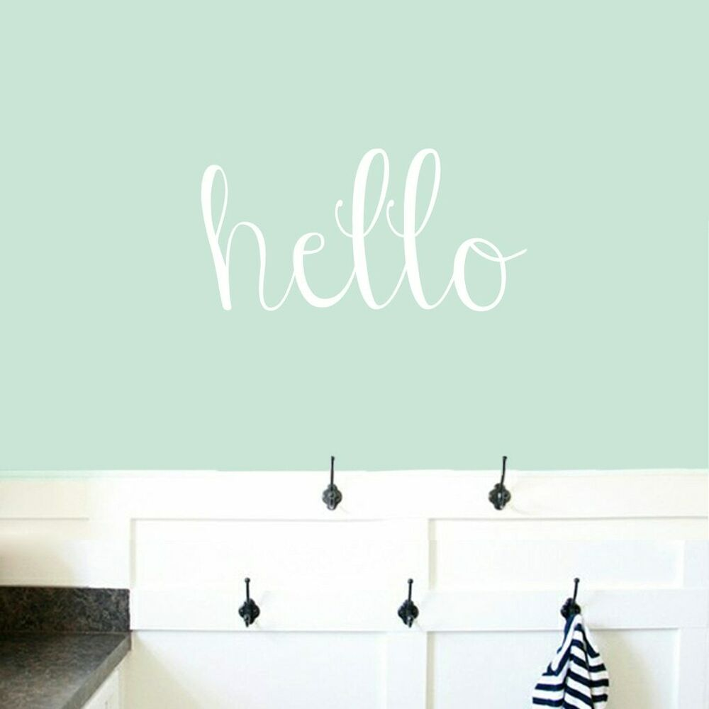 Details about hello wall decal greeting welcome entryway office kids wall art sticker