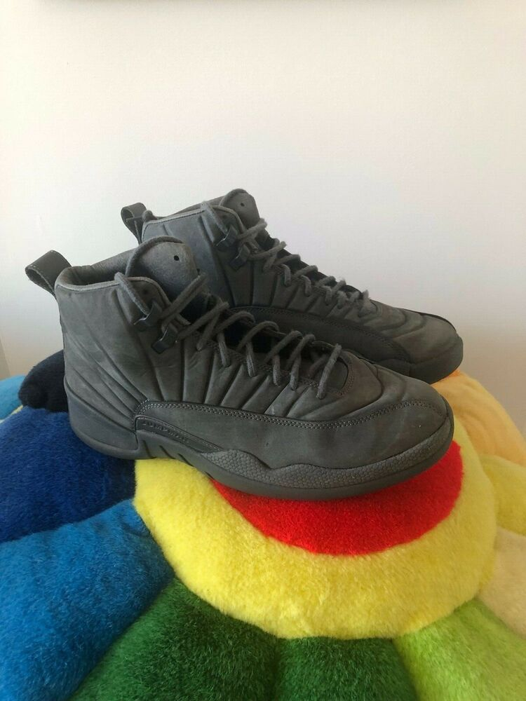 1e98219a974c Details about Nike Air Jordan 12 XII PSNY Men Public School Size 9 Dark  Grey 130690 003