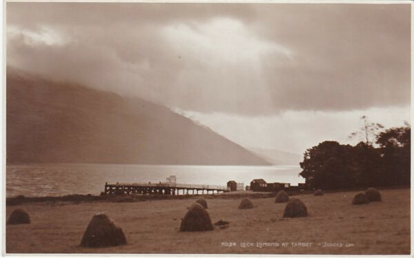 Atmospheric View Across Loch Lomond & Pier, TARBET, Dunbartonshire RP