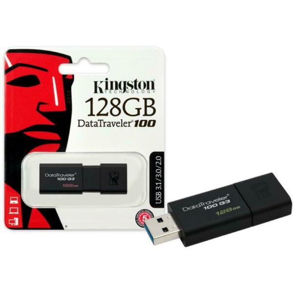 KINGSTON PENDRIVE DATATRAVELER 128GB DT100 G3 USB 3.0 DT100G3/128GB