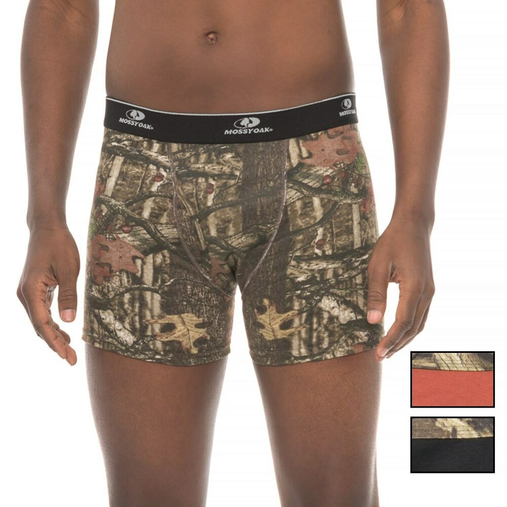 055846bf50 Details about Mossy Oak Men's Boxer Briefs 3 Pack Small Camo Black Orange  Stretch Cotton New