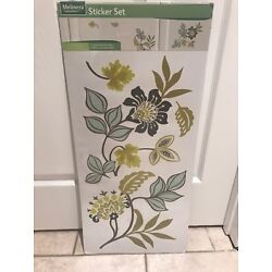 Melinera Sticker Set Adheres to Smooth Surface Floral Design Room Decor New