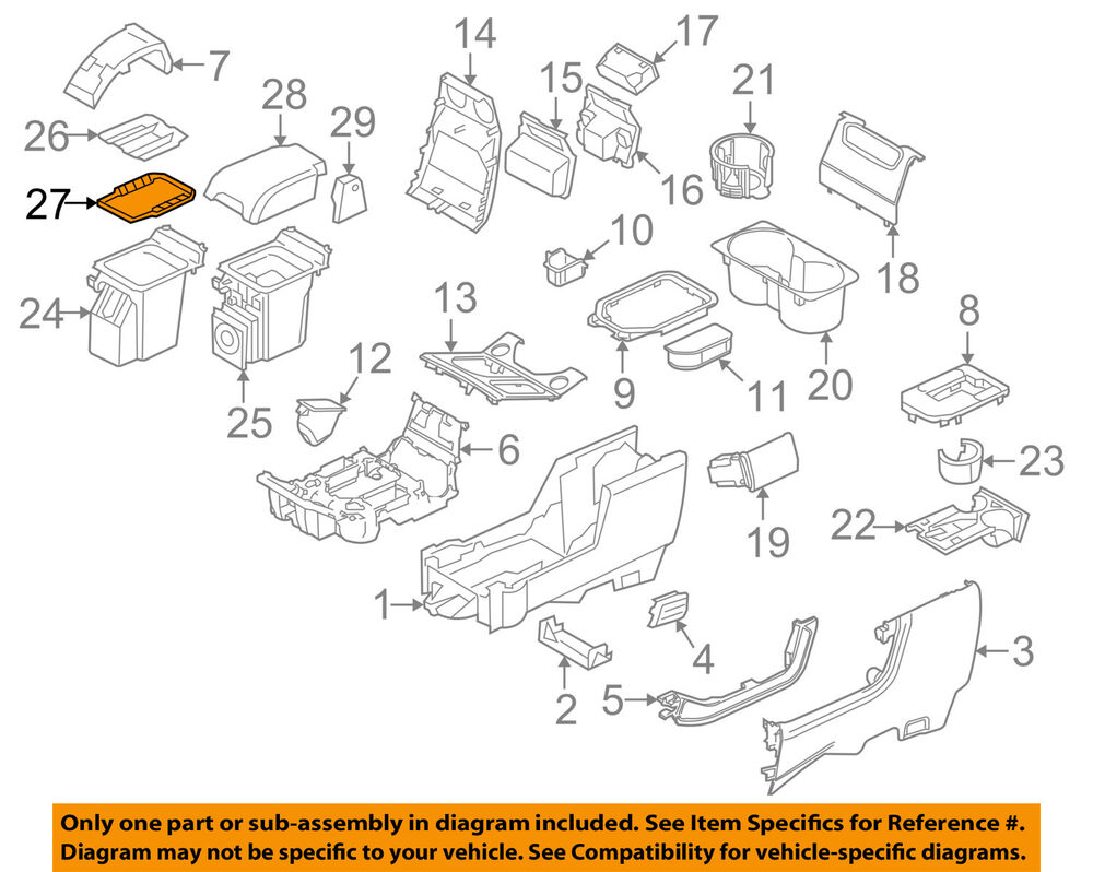 LAND ROVER OEM 06-13 Range Rover Sport Console-Tray Lining FIF500042PVJ