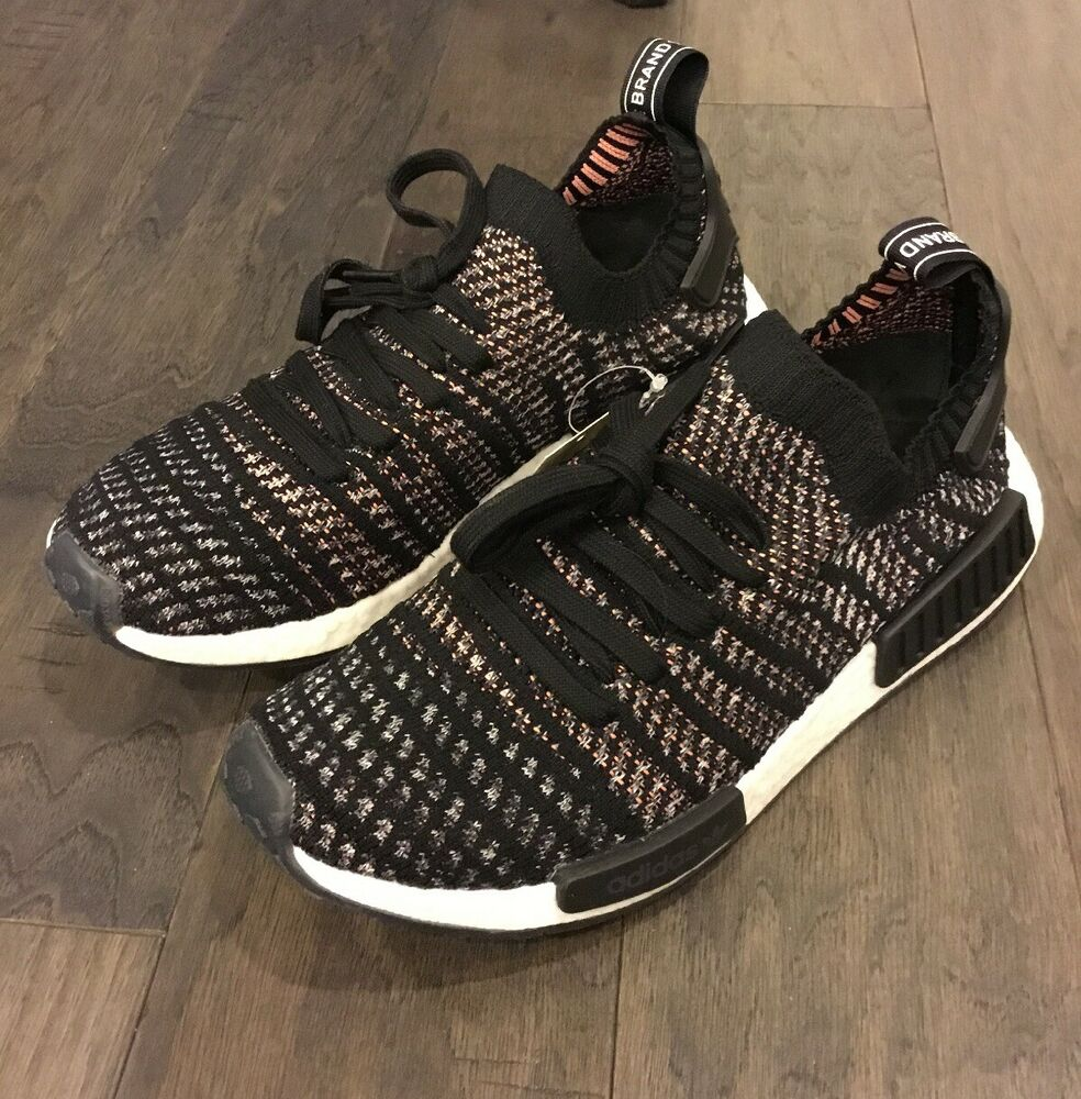 2db68f6498946 Details about Adidas NMD R1 STLT Primeknit Boost Shoes Size 13 Men s B37636  Sneakers Black