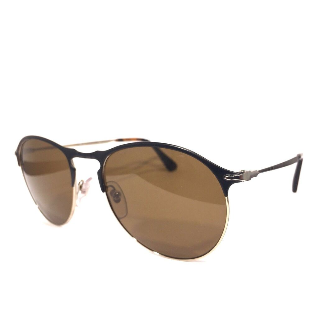 bda9985f42f46 Details about PERSOL 7649 1070 57 Black Brown Tortoise Polarized 53mm  Sunglasses (MSRP  360)