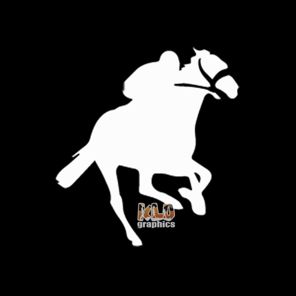 Details about thoroughbred horse racing 6 vinyl sticker sport stakes flat race jockey