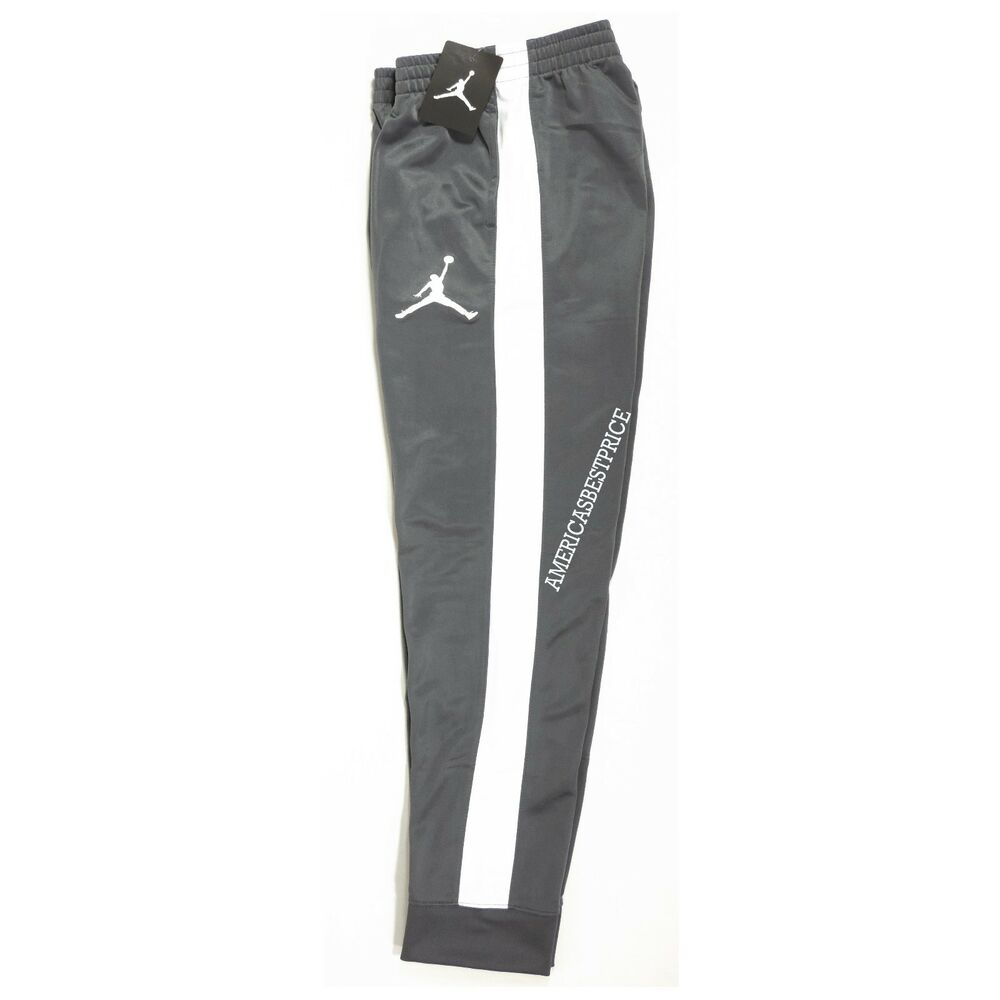 01fc13e1f3e Details about NIKE NEW AIR JORDAN JUMPMAN BOYS-KIDS YOUTH TRAINING JOGGER TRACK  PANTS NWT GRAY