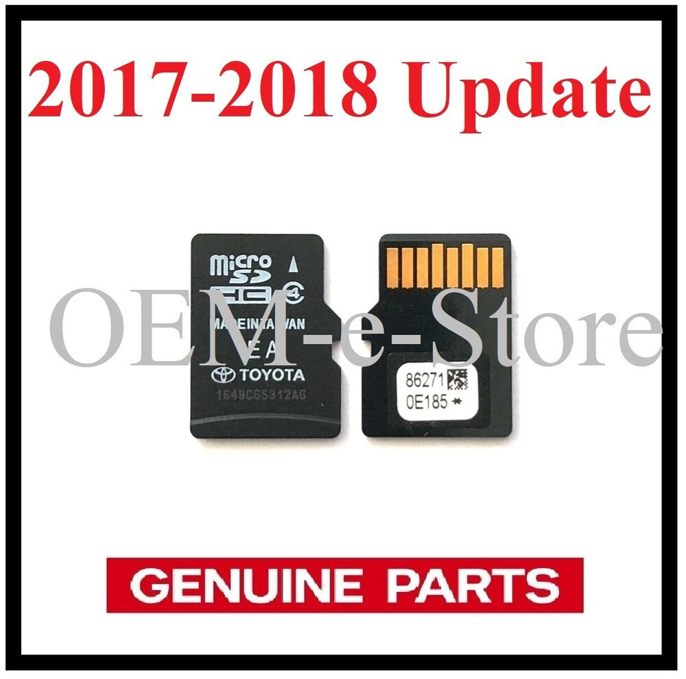 Genuine Toyota Gps Navigation Data Micro Sd Card Us Canada Map V2017 - Toyota-map-updates-us