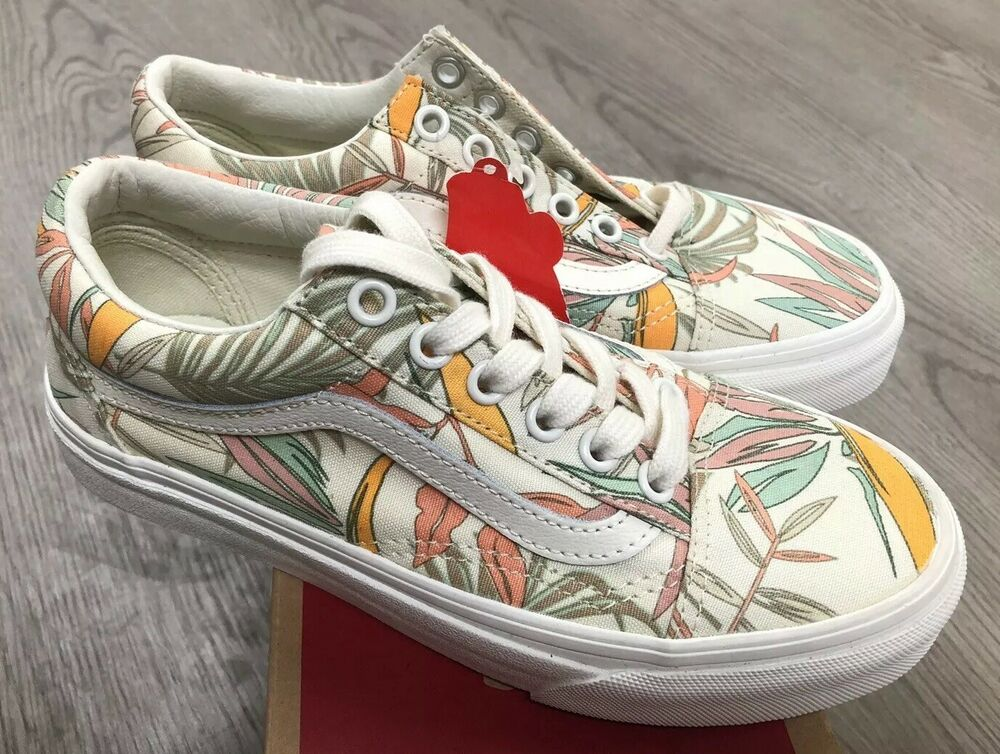 b6da691253 Details about Vans Old Skool California Floral Marshmallow Sz Mens 3.5   Womens  5 NIB