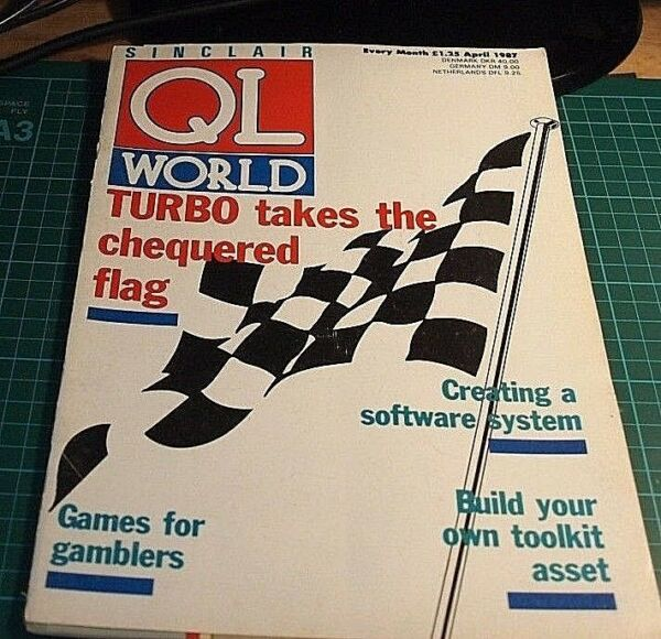 Sinclair QL World magazine. APRIL 1987. Sinclair, QL. Microdrive