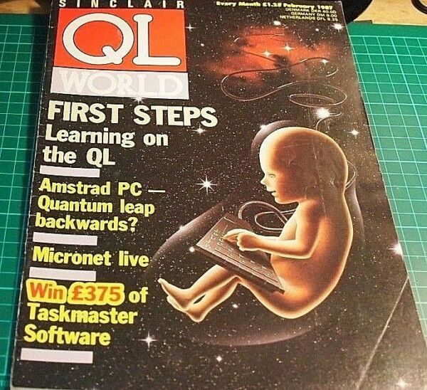 Sinclair QL World magazine. FEBRUARY 1987. Sinclair, QL. Microdrive