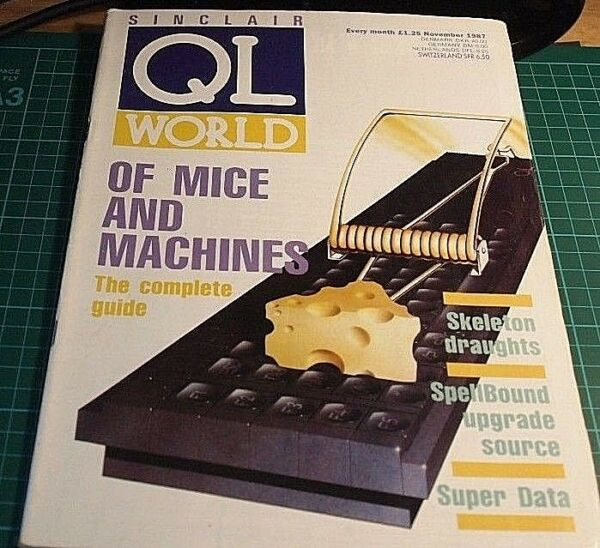Sinclair QL World magazine. NOVEMBER 1987. Sinclair, QL. Microdrive