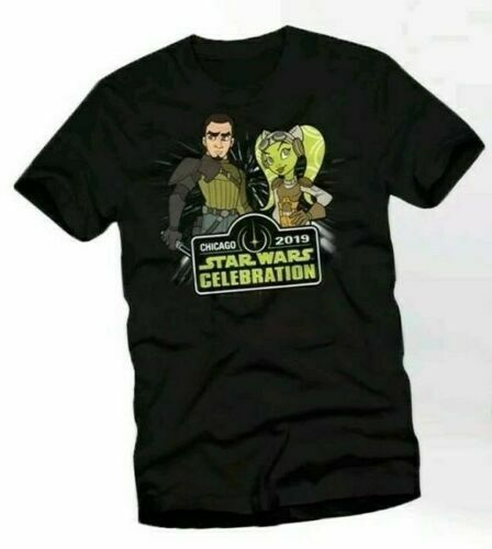 8f0bfad363f62a Details about Star Wars Celebration 2019 20th KANAN & HERA PIN T-Shirt  (Large) L
