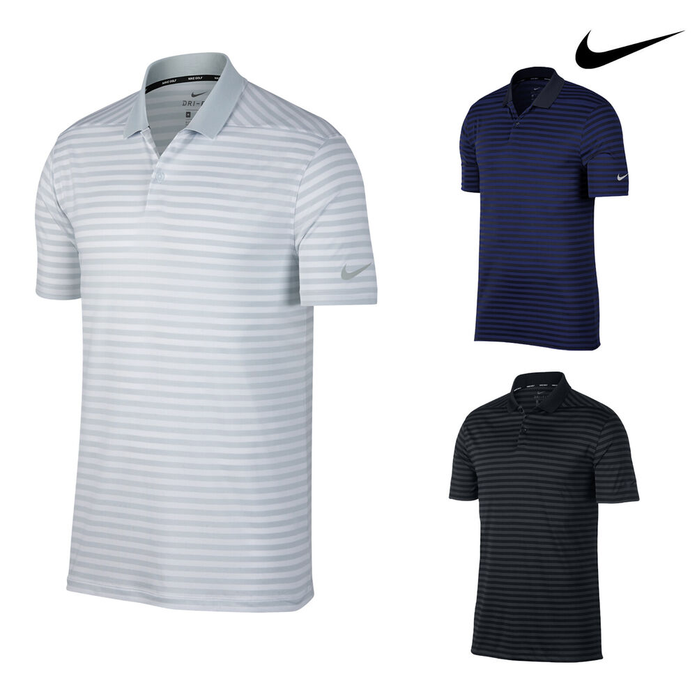 2da3645c8 Details about Nike Men's Dry Victory Stripe Golf Polo Shirt (NK311) -  Tennis Sport Top