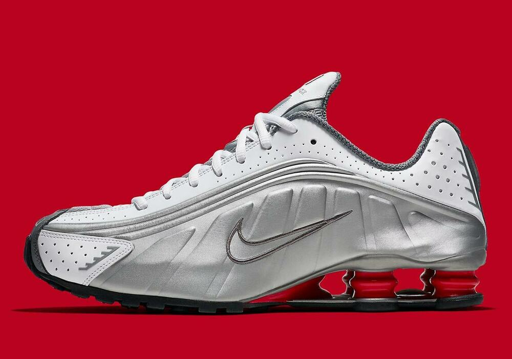 new style 50e0b 9a74b Details about 2018 Nike Shox R4 size 13. White Metallic Silver Comet Red.  BV1111-100. air max