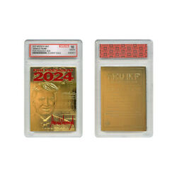 Kyпить DONALD TRUMP 2020 Keep America Great 23K GOLD SIGNATURE Card Graded GEM-MINT 10 на еВаy.соm