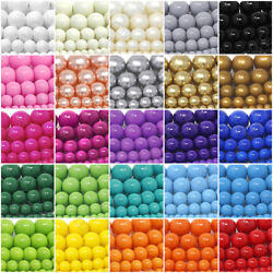 Kyпить Czech Opaque Glass Beads Round Pearl Coated 4mm 6mm 8mm 10mm 12mm 16
