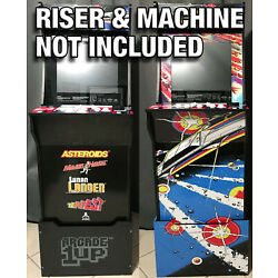 Arcade1up Cabinet Riser Graphics - Asteroids Asteroid Graphic Sticker Decal Set