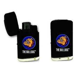 THE BULLDOG AMSTERDAM COMPANY BLACK LASER GAS LIGHTER DOUBLE JET FLAME TORCH