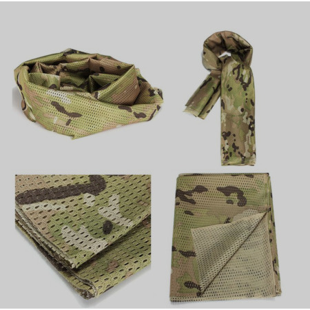 img-MILITARY SCRIM NET TACTICAL FACE NECK SCARF AIR SOFT CAMOUFLAGE 150 cm x 56 cm
