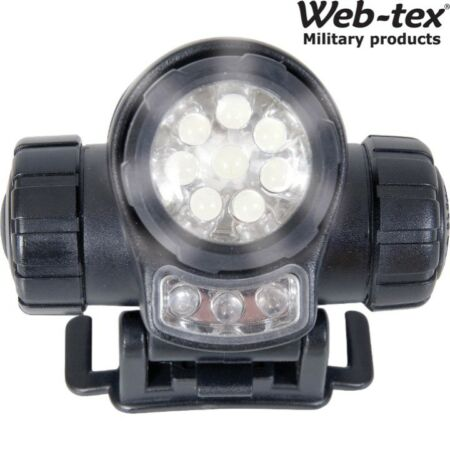 img-WEB-TEX LED TACTICAL HEAD TORCH LAMP 3 FUNCTION LIGHT RED WHITE ARMY CADET