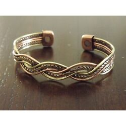 Vintage Copper Magnetic Bracelet Arthritis Pain Therapy Energy Cuff Bangle