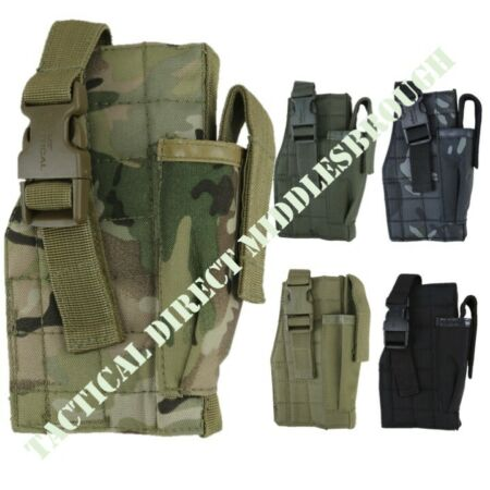 img-MOLLE GUN HOLSTER WITH MAG POUCH AIRSOFT PISTOL HOLDER ARMY WEBBING AIRSOFT