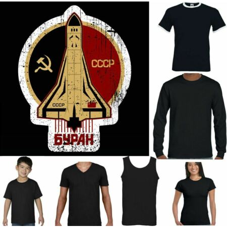 img-CCCP T-SHIRT Space Agency USSR NASA Soviet Union Hammer & Sickle Air Force Ladie