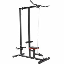 Kyпить Home Gym Body Lat Pull down Machine Low Row Bar Cable Fitness Weigh Training на еВаy.соm