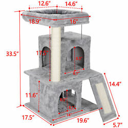 34'' STURDY Cat Tree Tower Activity Center Large Playing House Condo For Rest & S