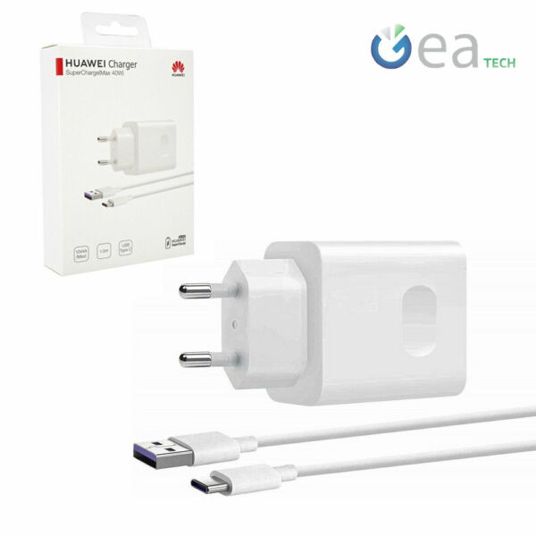 Huawei CaricaBatteria Supercharge 40W CP84 + Cavo Type-c Per Mate 20 Pro P30 Pro