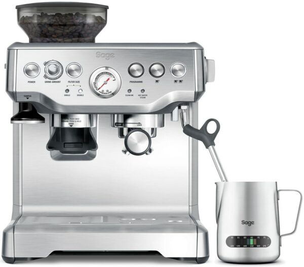 Sage Appliances SES875 The Barista Express Espresso-Maschine (Espressomaschine)