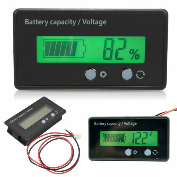 12-48V LCD Universal Battery Capacity Voltage Meter Tester Voltmeter Monitor