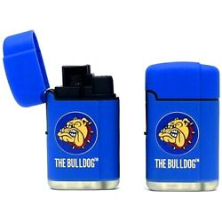 THE BULLDOG AMSTERDAM COMPANY BLUE LASER GAS LIGHTER DOUBLE JET FLAME TORCH