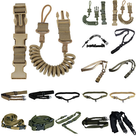 img-Adjustable Army Tactical Rifle Strap Airsoft Bungee Rope Gun Sling Belt Hunting