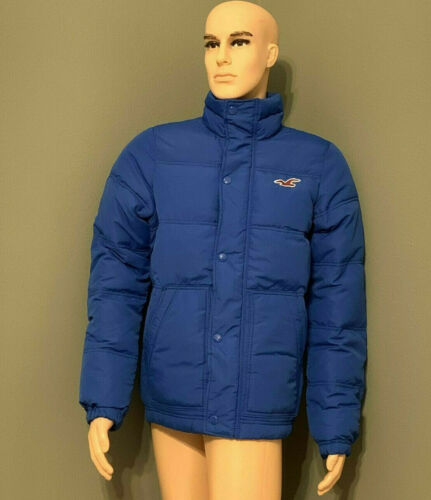 Hollister Men's Silver Strand Down Jackets/Coats Blue L