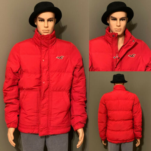 Hollister Men's Silver Strand Down Jackets/Coats Red M