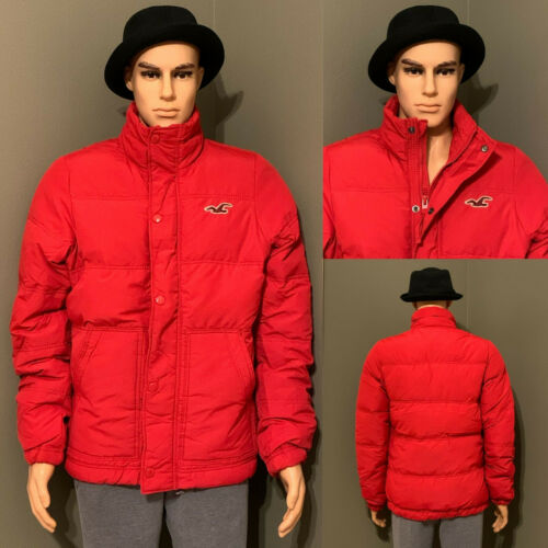 Hollister Men's Silver Strand Down Jackets/Coats Red L