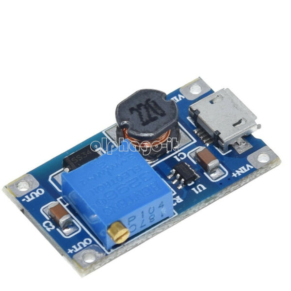 2PCS 2A Booster Board DC-DC Step-Up Module 2/24V To 5/9/12 /28V Replace XL6009