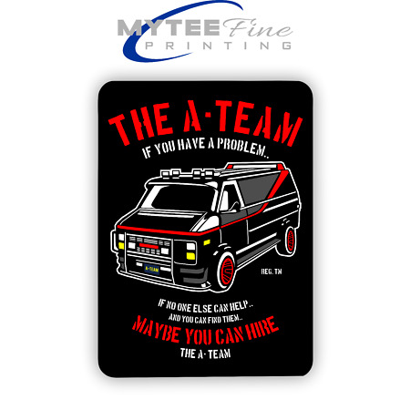 img-The A-Team Van Mr T 1980s METAL SIGN PLAQUE Man CAVE Poster Retro