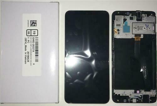 DISPLAY LCD ORIGINALE Samsung A105 Galaxy A10 NERO vetrino touch vetro schermo