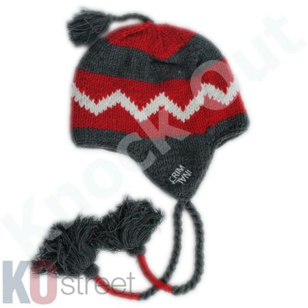 img-Mens Criminal Damage Trapper Ski Hat Knitted Winter Warm Beanie Cap BNWT