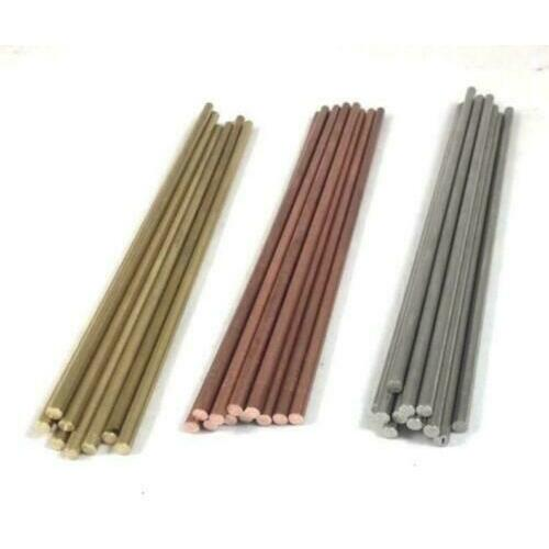 """6"""" Stainless Steel or Brass Pin Stock Rod - Knife Handle Pin Material"""