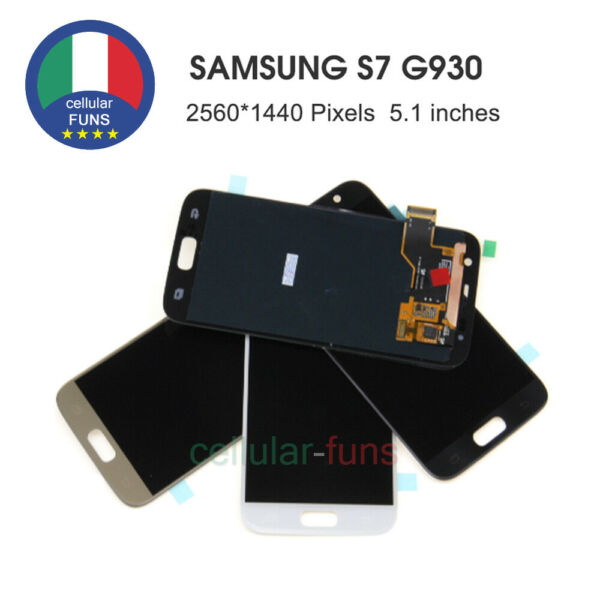 PER SAMSUNG GALAXY S7 SM-G930F G930 SCHERMO LCD DISPLAY VETRO TOUCH SCREEN