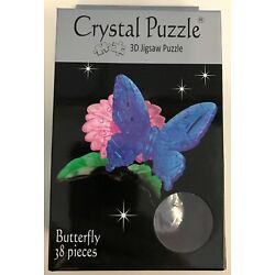 Kyпить 31684 BLUE BUTTERFLY 3D CRYSTAL PUZZLE JIGSAW 38 PIECES FUN DISPLAY GIFT IDEA на еВаy.соm
